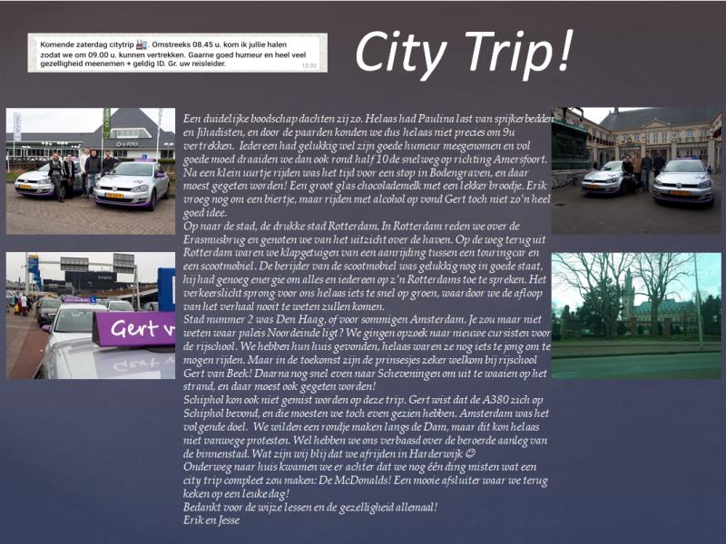 Citytrip maart